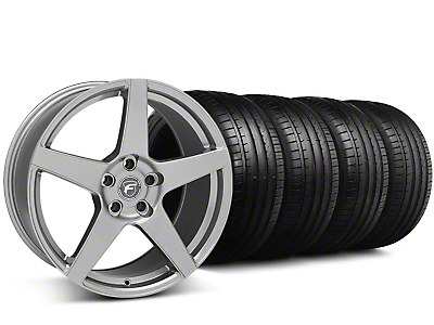 Staggered Forgestar CF5 Monoblock Gunmetal Wheel & Falken Tire Kit - 18x9/10 (05-14 All)