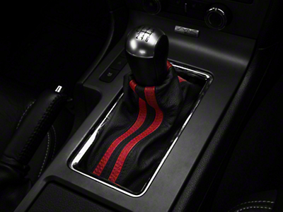 Premium Black Leather Shift Boot - Dual Red Stripe (10-14 All)