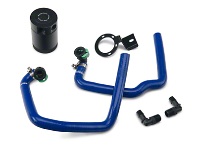 Mishimoto Direct Fit Baffled Oil Separator System - Blue Silicone Hoses (15-17 EcoBoost)