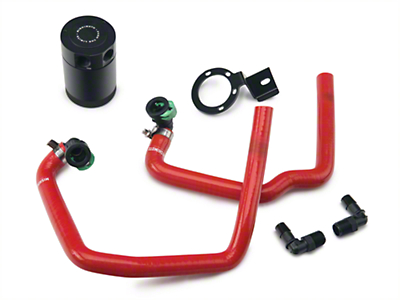 Mishimoto Direct Fit Baffled Oil Separator System - Red Silicone Hoses (15-16 EcoBoost)