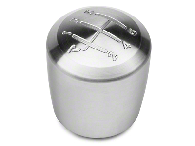 Brushed Stainless Steel Cylindrical Shift Knob (11-14 GT, V6)