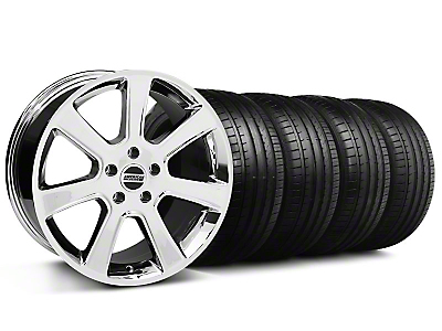 Staggered S197 Saleen Style Chrome Wheel & Falken Tire Kit - 18x9/10 (05-14)