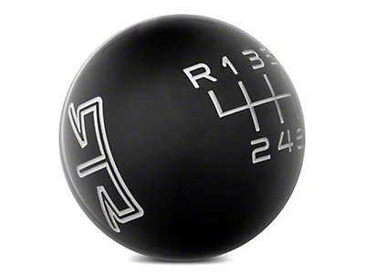 RTR Black Shift Knob - Grey Engraving (11-14 GT, V6)