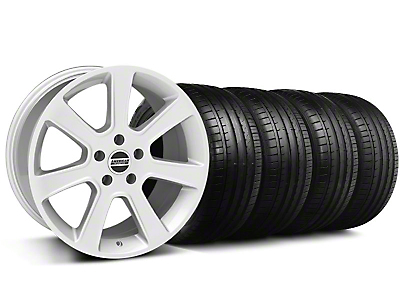Staggered S197 Saleen Style Silver Wheel & Falken Tire Kit - 18x9/10 (05-14)
