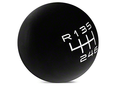 Modern Billet Retro Style 6-Speed Shift Knob - Black (15-16 GT, EcoBoost, V6)