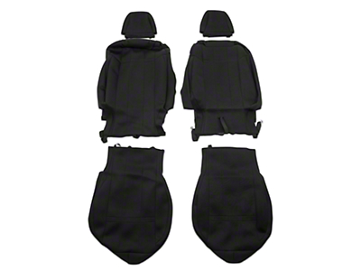 Caltrend Neosupreme Front Seat Covers - Black - Fastback (15-17 All)