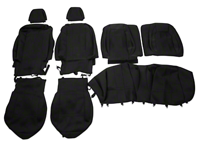 Caltrend Neosupreme Front & Rear Seat Covers - Black - Fastback (15-16 All)