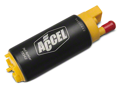 Accel Thruster 500 Series Fuel Pump - Left Offset Inlet (96-97 Cobra)