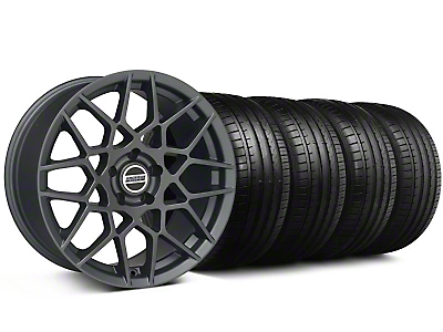 Staggered 2013 GT500 Style Charcoal Wheel & Falken Tire Kit - 19x8.5/10 (05-14 All)