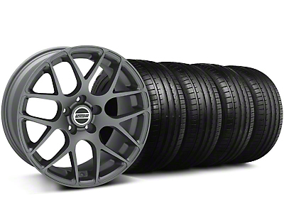 Staggered AMR Charcoal Wheel & Falken Tire Kit - 19x8.5/10 (05-14)