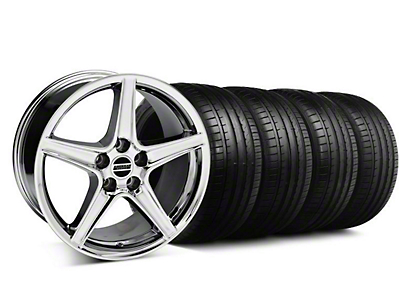Staggered Saleen Style Chrome Wheel & Falken Tire Kit - 19x8.5/10 (05-14 GT, V6)