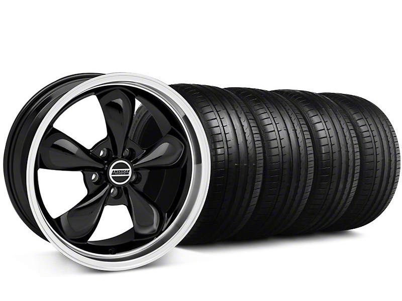 Staggered Bullitt Black Wheel & Falken Tire Kit - 19x8.5/10 (05-14 GT, V6)
