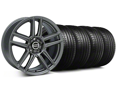 Staggered Boss Laguna Seca Charcoal Wheel & Falken Tire Kit - 19x9/10 (05-14 All)