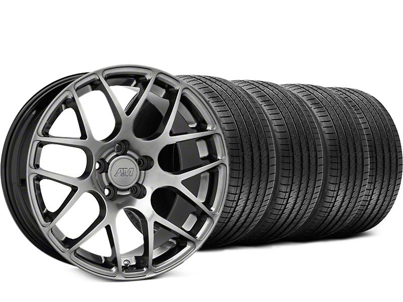 AMR Dark Stainless Wheel & Sumitomo Tire Kit - 18x8 (05-14 All)