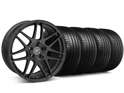 Staggered Forgestar F14 Monoblock Matte Black Wheel & Falken Tire Kit - 19x9/10 (05-14 All)