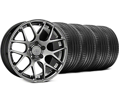 AMR Dark Stainless Wheel & Sumitomo Tire Kit - 18x9 (05-14 All)