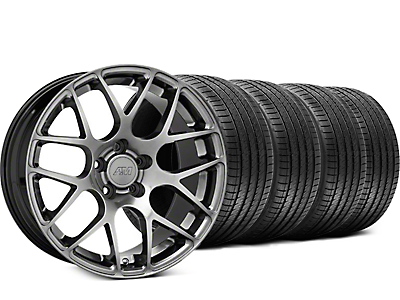 AMR Dark Stainless Wheel & Sumitomo Tire Kit - 18x9 (99-04 All)