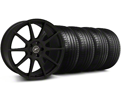 Forgestar Staggered CF10 Monoblock Staggered Textured Black CF10 Monoblock Wheel & Falken Tire Kit - 19x9/10 (05-14 All)