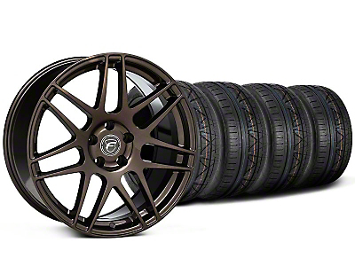 Forgestar Staggered F14 Bronze Burst Wheel & NITTO INVO Tire Kit - 19x9/10 (05-14 All)