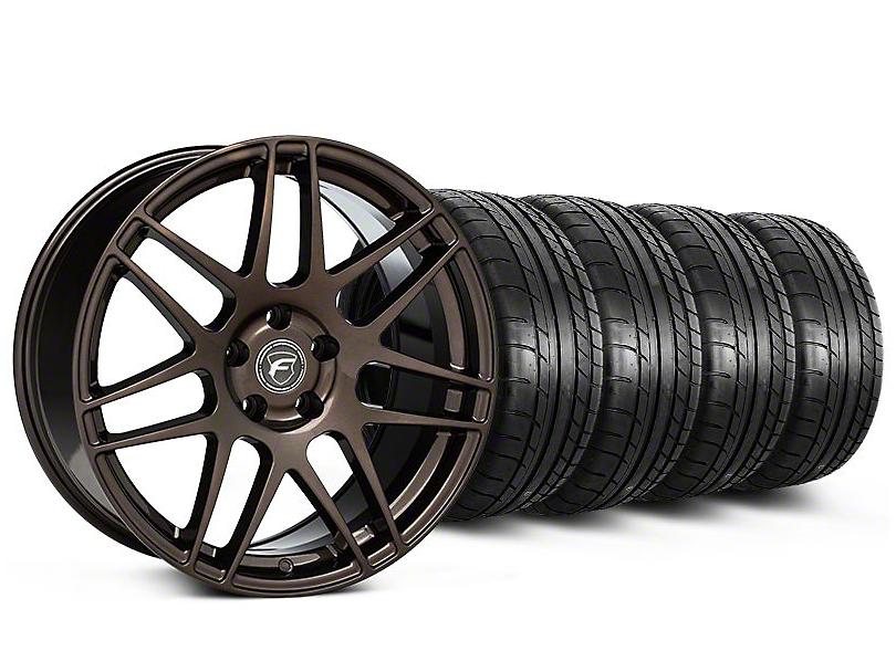 Forgestar Staggered F14 Bronze Burst Wheel & Mickey Thompson Tire Kit - 19x9/10 (05-14 All)