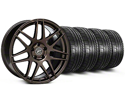 Forgestar Staggered F14 Bronze Burst Wheel & Mickey Thompson Tire Kit - 19x9/10 (05-14 All)
