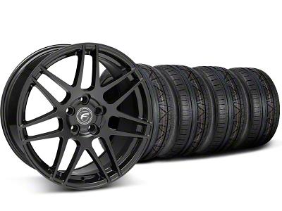 Forgestar Staggered F14 Monoblock Piano Black Wheel & NITTO INVO Tire Kit - 19x9/11 (05-14 All)