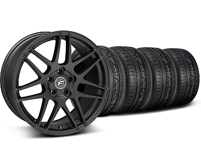Forgestar Staggered F14 Monoblock Matte Black Wheel & NITTO INVO Tire Kit - 19x9/11 (05-14 All)