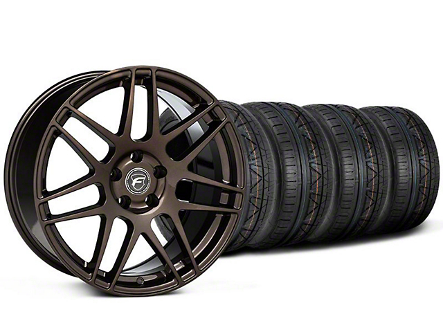 Staggered Forgestar F14 Bronze Burst Wheel & NITTO INVO Tire Kit - 19x9/11 (05-14 All)