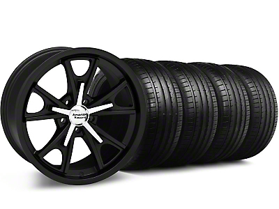 Staggered Daytona Matte Black Wheel & Falken Tire Kit - 20x8.5/9.5 (05-14 GT, V6)