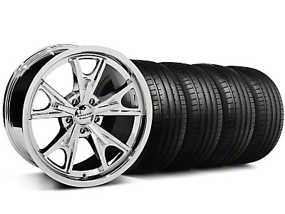 Staggered Daytona Chrome Wheel & Falken Tire Kit - 20x8.5/9.5 (05-14 GT, V6)
