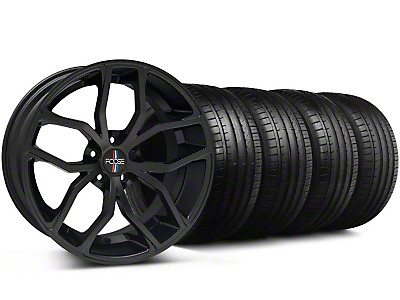 Staggered Foose Outcast Matte Black Wheel & Falken Tire Kit - 20x8.5/10 (05-14 All)