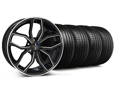 Staggered Foose Outcast Black Machined Wheel & Falken Tire Kit - 20x8.5/10 (05-14 GT All)