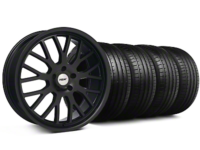 TSW Staggered Tremblant Matte Black Wheel & Falken Tire Kit - 20x8.5/10 (05-14)