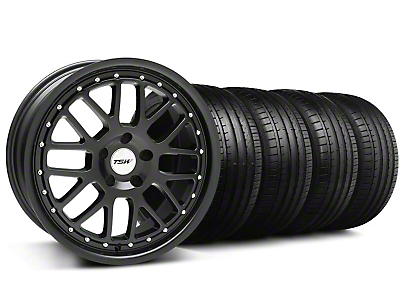 TSW Staggered Valencia Matte Black Wheel & Falken Tire Kit - 20x8.5/10 (05-14)