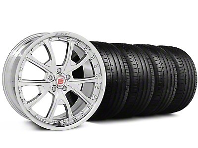 Shelby Staggered CS-40 Chrome Wheel & Falken Tire Kit - 20x9/10 (05-14 All)