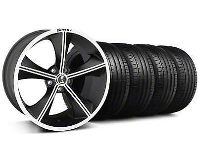 Shelby Staggered CS-70 Matte Black Wheel & Falken Tire Kit - 20x9/10 (05-14 All)