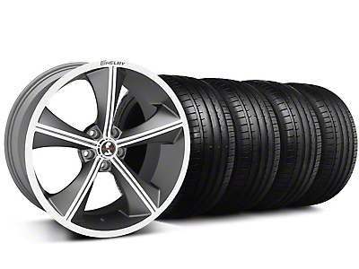 Staggered Shelby CS-70 Gunmetal Wheel & Falken Tire Kit - 20x9/10 (05-14 All)