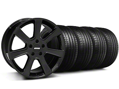 Staggered S197 Saleen Style Black Wheel & Falken Tire Kit - 20x9/10 (05-14)