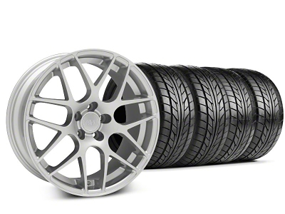 Staggered AMR Silver Wheel & NITTO Tire Kit - 20x8.5/10 (05-14 All)