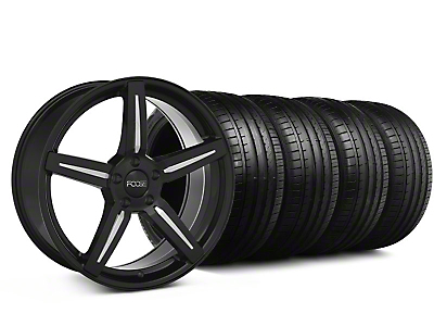 Staggered Foose Enforcer Gloss Black Wheel & Falken Tire Kit - 20x9/10 (05-14)