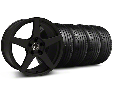Forgestar Staggered CF5 Monoblock Staggered Textured Black CF5 Monoblock Wheel & Falken Tire Kit - 18x9/10 (94-98)