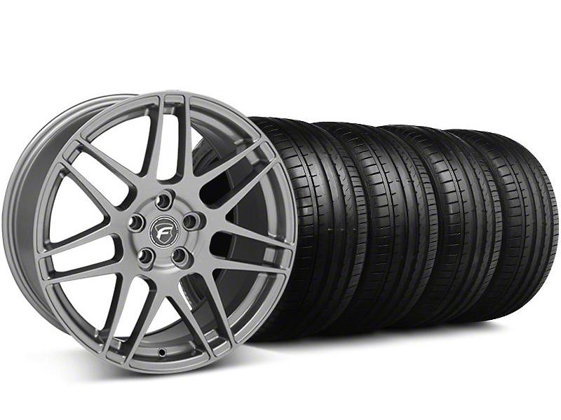 Forgestar Staggered F14 Monoblock Gunmetal Wheel & Falken Tire Kit - 18x9/10 (94-98)
