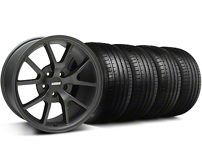 Staggered FR500 Matte Black Wheel & Falken Tire Kit - 18x9/10 (94-98)