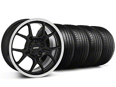 Staggered GT4 Black Wheel & Falken Tire Kit - 18x9/10 (94-98)