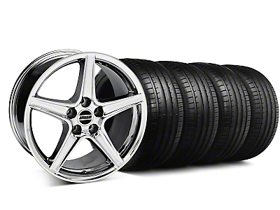 Staggered S Style Chrome Wheel & Falken Tire Kit - 18x9/10 (94-98)