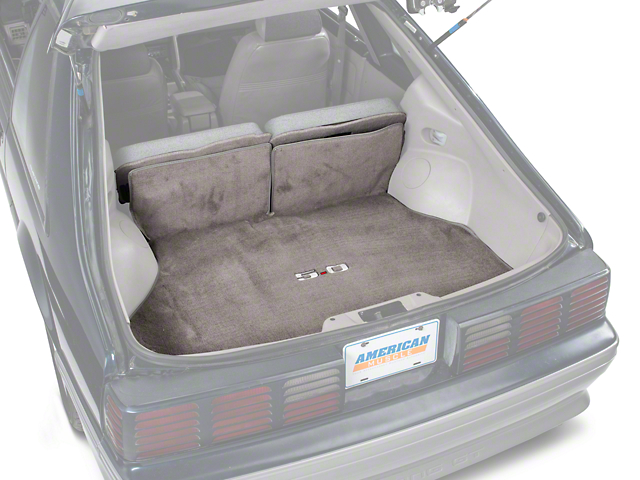 Replacement Hatch Carpet - Smoke Gray w/ 5.0 Logo (87-89 All)