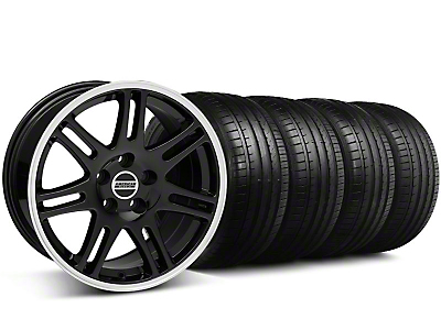 Staggered 10th Anniversary Cobra Style Black Wheel & Falken Tire Kit - 18x9/10 (99-04)