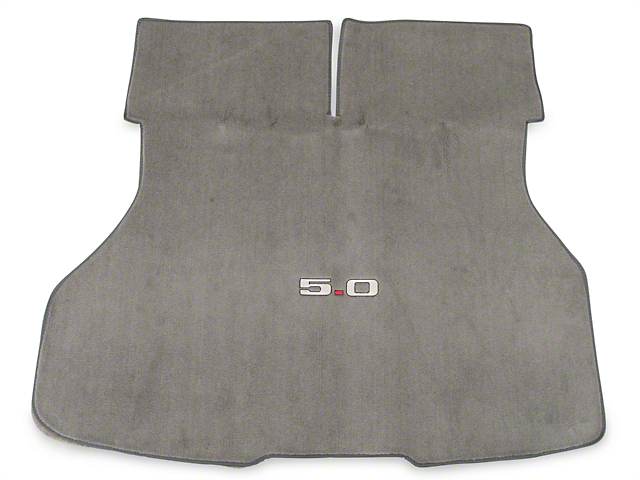 Replacement Hatch Carpet - Titanium Gray w/ 5.0 Logo (90-92 All)