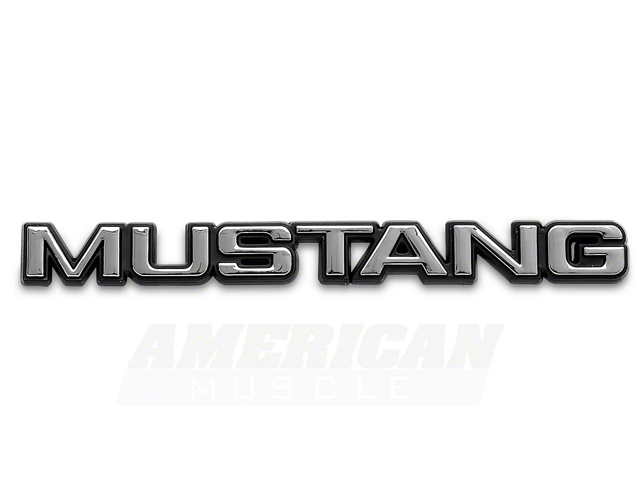 MUSTANG Trunk Emblem