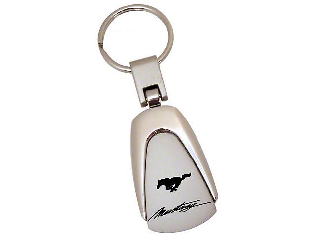 Teardrop Style Key Chain - Mustang Script